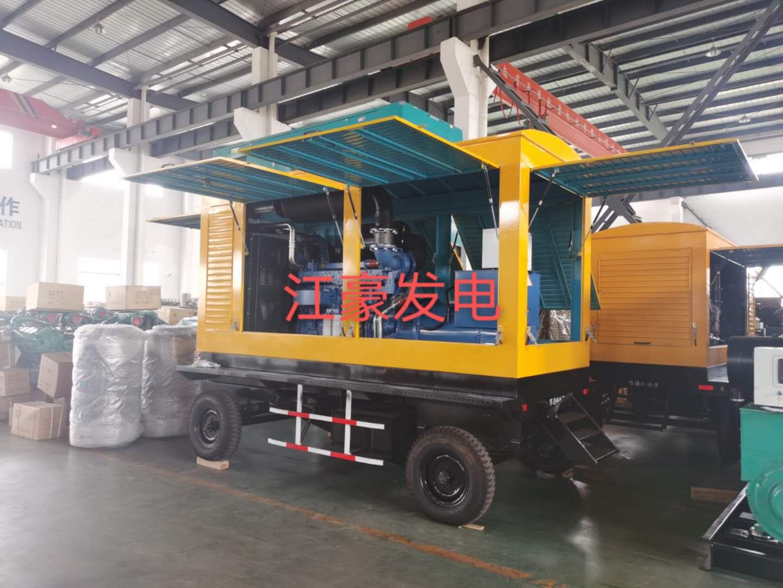 江豪發電機組發貨動態-移動防雨罩350KW